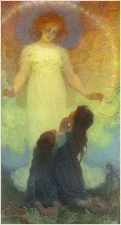 <i>Guardian Angel</i> by Franz Dvorak, ca. 1911.