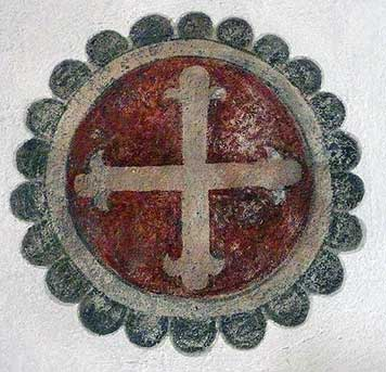 Heidelberg fresco of a cross