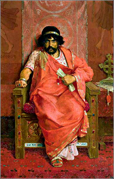 <i>Herod on His Throne</i> by Theophile Lybaert ca. 1883.