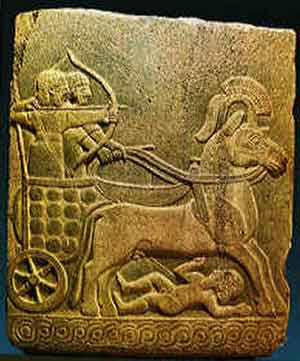 stele of a Hittite chariot