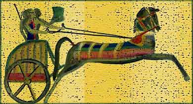 ancient painting of a Hittite chariot