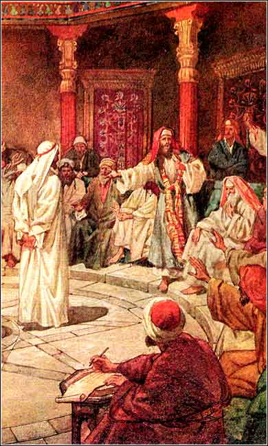 <i>Jesus Before the Sanhedrin</i> by William Hole, ca. 1905.