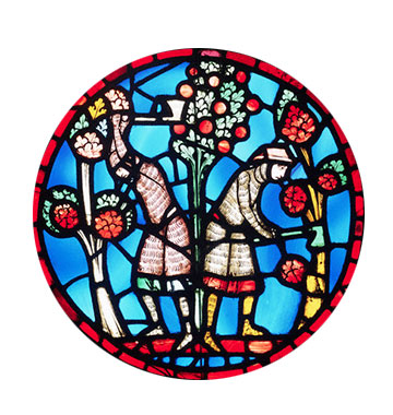 devotional roundel of Holofernes destroying the sacred groves