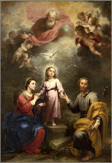 Murillo devotional painting Descent of the Holy Spirit