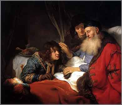 Isaac blessing Jacob by Govert Flinck, c. 1638