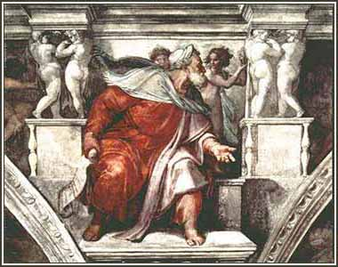 Devotional painting of Isaiah by Michelangelo, from the Sistine Chapel ceiling