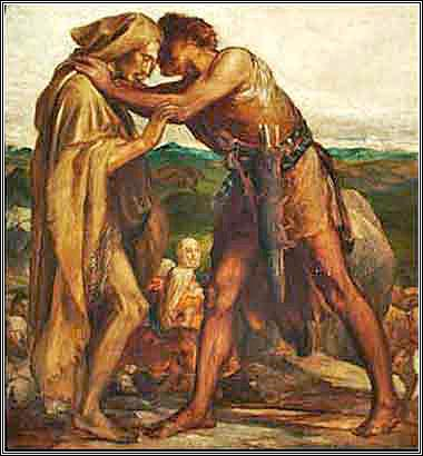 Devotional picture of Jacob and Esau by George Watts
