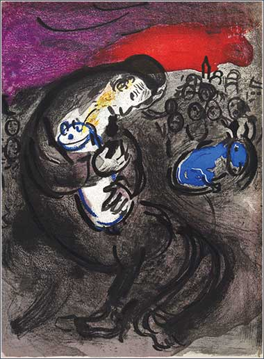 <i>Jeremiah&rsquo;s Lamentation</i> by Marc Chagall, ca. 1956.