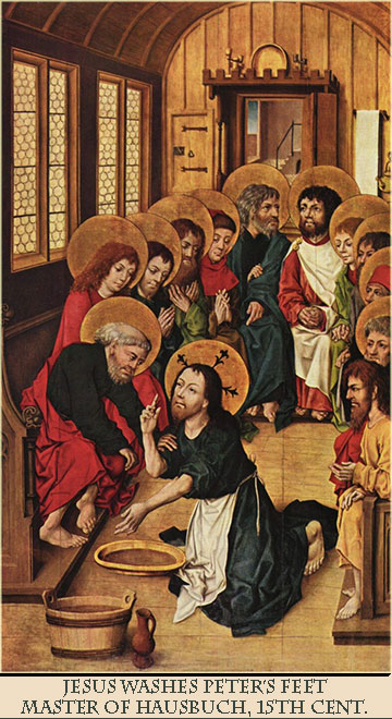 Jesus Washes the Feet of Peter, by the Master of Hausbuch