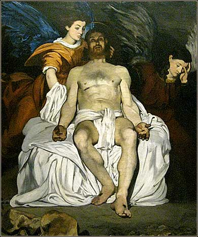 <i>The Dead Christ with Angels</i> by Edouard Manet, ca. 1864.