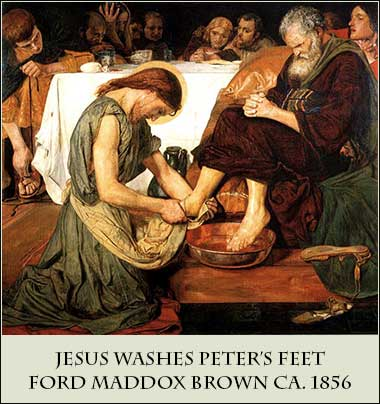 Jesus Washes Peter\