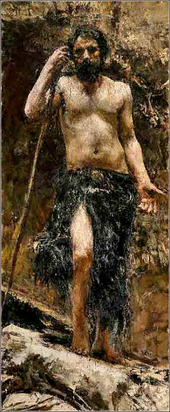 <i>John the Baptist</i> by Antonio Mancini ca. 1885.