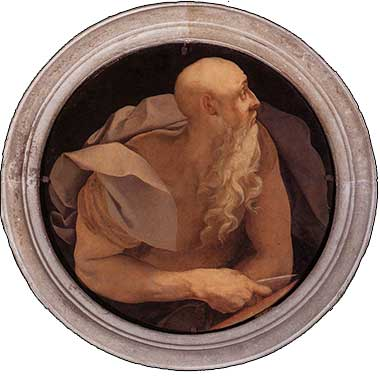 <i>John the Evangelist</i> by Jacopo Pontormo ca. 1527.