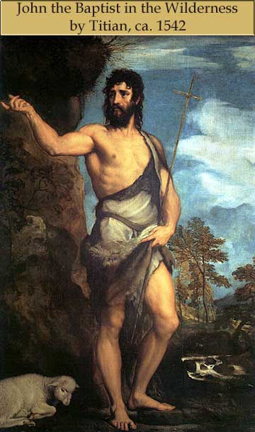 John the Baptist by Titian
