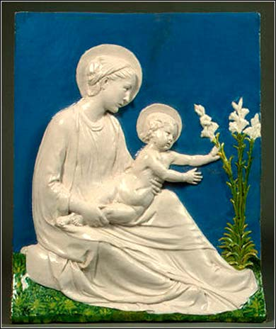 A charming Madonna and Child, ca. 1440, by Luca della Robbia