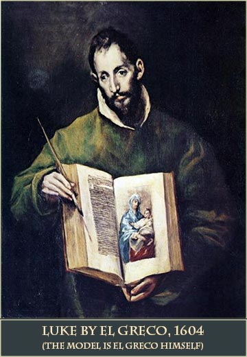 Devotional painting of Luke by El Greco