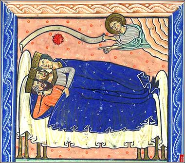<i>Dream of the Magi</i>, from an English psalter, ca. 1220.i