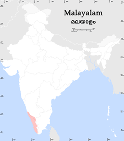 Malayalam Christian map