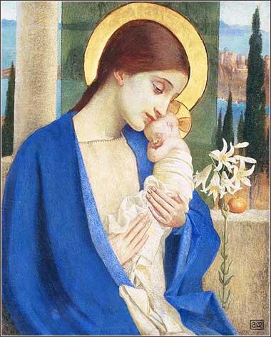 <i>Madonna and Child</i> by Marianne Stokes, ca. 1902.