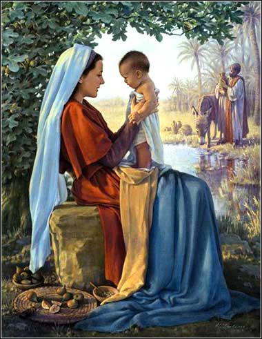 <i>Mary at the Well in Egypt</i> by unknown, contemporary.