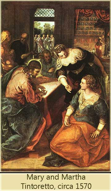 Jesus in the House of Mary and Martha, by Tintoretto, circa 1570