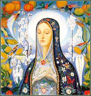 Devotional picture of the Virgin Mary
