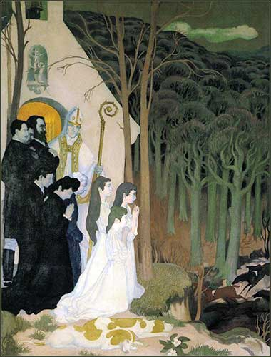 <i>Prayer to Nature</i> by Maurice Denis, ca. 1903.