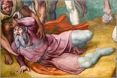<i>The Conversion of Saul (detail)</i>, Michelangelo ca. 1545.
