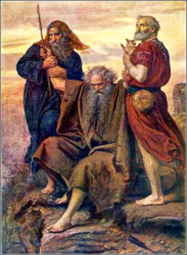 <em>Victory O Lord!</em>, Moses supported by Aaron and Hur, battle against the Amalek, Bible, Exodus 17
