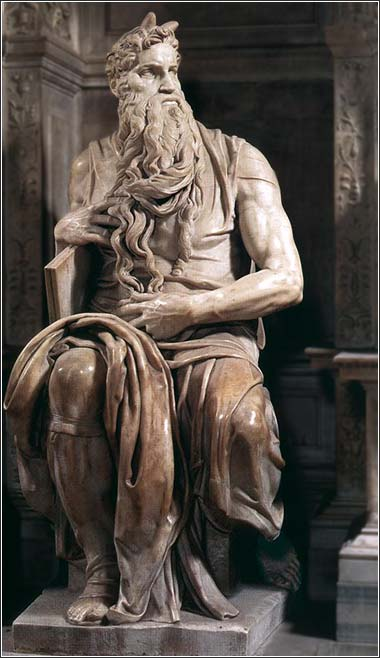 Michelangelo's famous statue of Moses