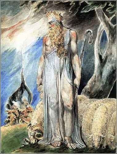 Moses and the Burning Bush, William Blake