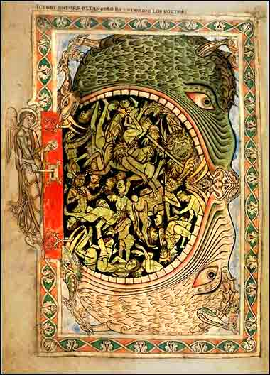 <i>The Mouth of Hell</i>, from the Winchester Bible, 12th century.