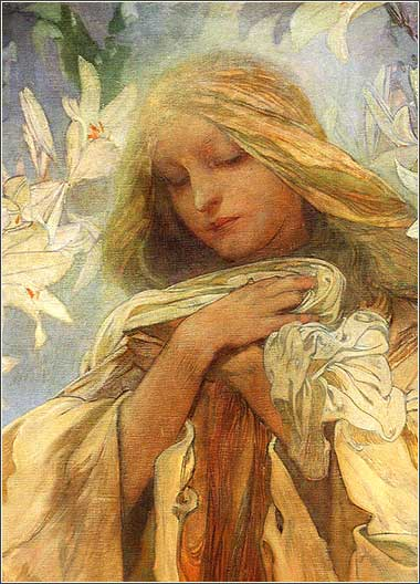 <i>Madonna with Lilies</i> by Alphonse Mucha, ca. 1905.