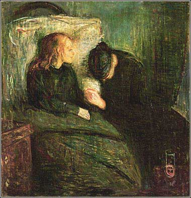 Devotional painting by Munch, Norwegian, titled The Sick Child