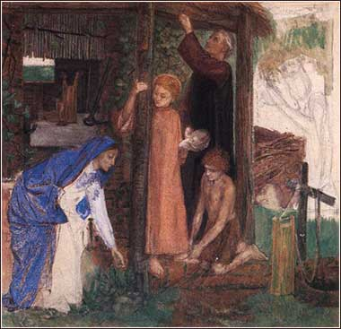 Passover, Exodus, <i>Gathering Bitter Herbs</i> by Dante Gabriel Rosetti, pastel ca. 1856.