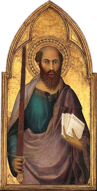 <i>Saint Paul</i> by Lippo Memmi, ca. 1350.