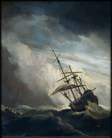 Sain Paul ship storm at sea