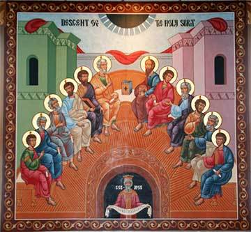 Devotional icon of Pentecost