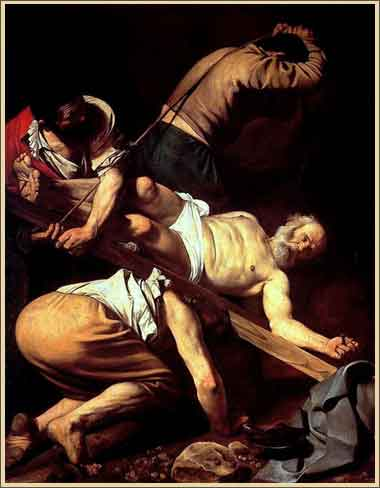 Crucifixion of Saint Peter by Caravaggio, 1600-1601