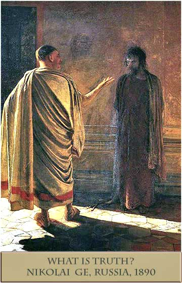 Quod est Veritas (What is Truth), Christ and Pilate, painting by Nicholai Ge, 1890