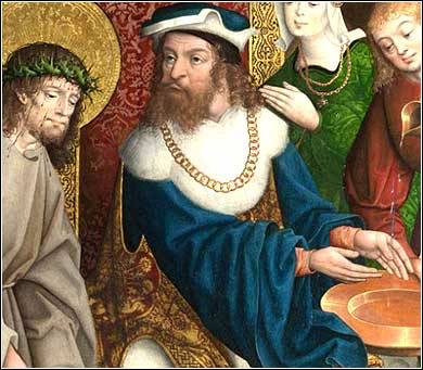 <i>Pilate Washing His Hands</i>, Master of Cappenberg ca. 1520.