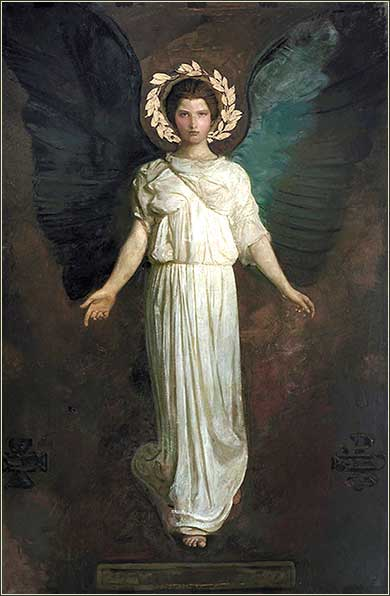 angel by Abbott Handerson Thayer, ca. 1890