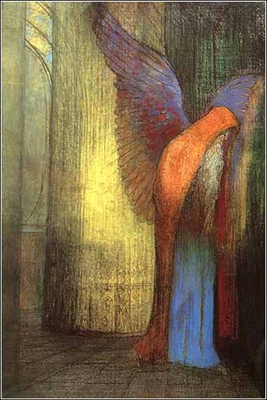 <i>Winged Man</i> by Odilon Redon, ca. 1882.