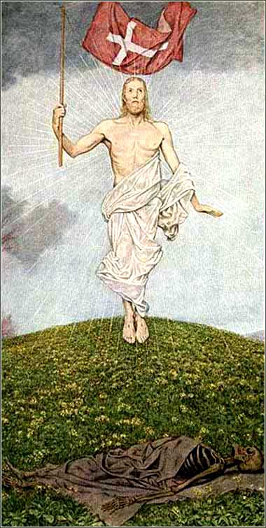 <i>Resurrection</i> by Hans Thoma, ca. 1889.