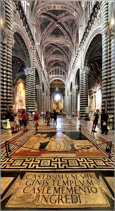 The Duomo (Cathedral) in Siena, Italy.