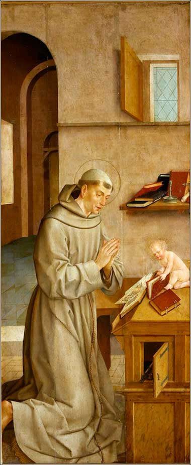 <i>St. Anthony and the Child</i> by Frei Carlos, ca. 1530.