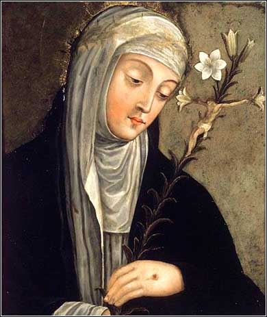 <i>Saint Catherine of Siena</i>, artist unknown ca. 1680.