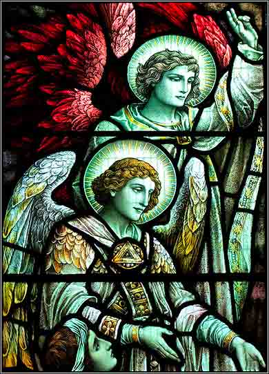Stained glass - Angels Gabriel and Michael