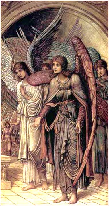 <i>The Ramparts of God's House (detail)</i> by John Strudwick, ca. 1891