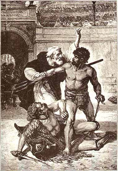 Telemachus stops the gladiator